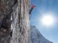 Bestes Wetter, bester Riss. Leider zu kalt für Kletterschuhe und Magnesia. 6a/A2. (c) Timeline Productions