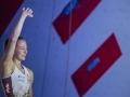 Jessica Pilz beim Lead Weltcup 2018 in Chamonix (c) Heiko Wilhelm