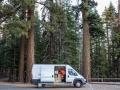Alex Honnold räumt seinen Van auf im Yosemite Nationalpark (c) Jimmy Chin