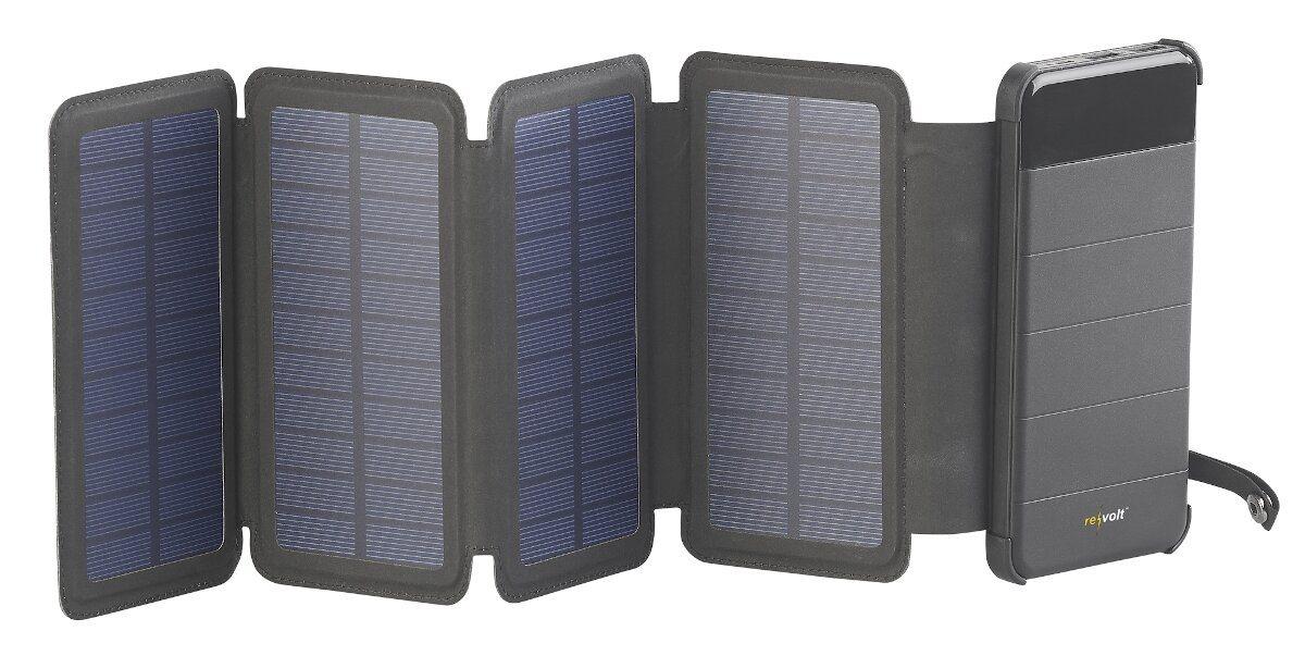 revolt Solar-Powerbank PB-85.s (c) PEARL.Gmbh / www.pearl.de