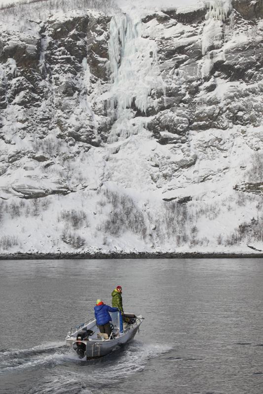 Siebzig Grad Nord: Eisklettern nördlich des Polarkreises