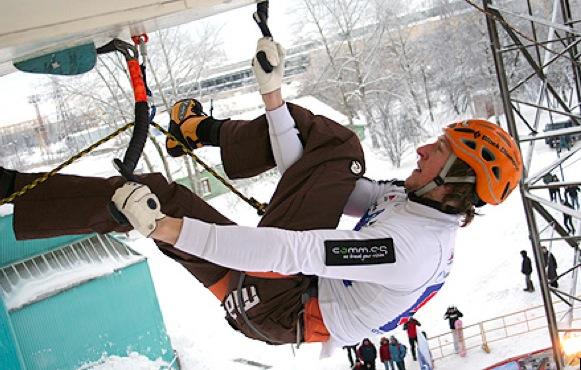 Auftakt des Eiskletterweltcups 2010 in Kirov