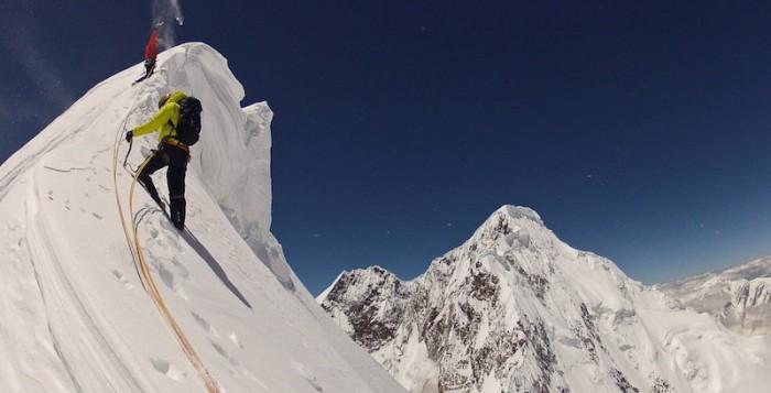 Hansjörg Auer und den Anthamatten Brüdern gelingt Erstbesteigung der Südwand des Kunyang Chhish Ost