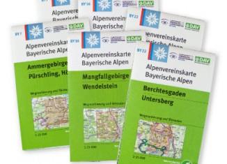 DAV: Zuwachs bei den AV-Karten Bayerische Alpen