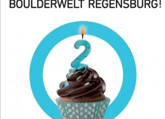 Die Boulderwelt Regensburg feiert am 22.-23.03.2014 ihren zweiten Geburtstag