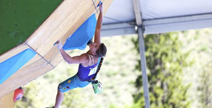 """Erneutes """"Double"""" für Kilian Fischhuber und Anna Stöhr beim Boulderweltcup in Vail"""