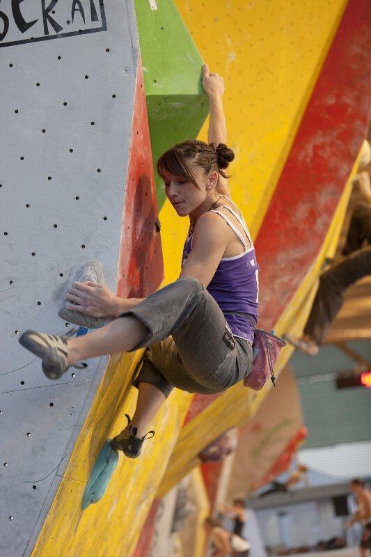 Boulderweltcup 2011 in Wien: Anna Stöhr und Lukas Ennemoser bouldern souverän ins Finale