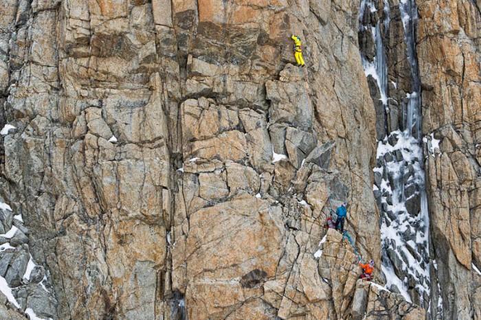 "Erstbegehung von ""La Classica Moderna"" an der Südwand des Mont Blanc"