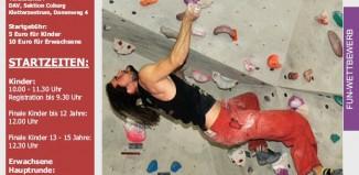 2. Offener Coburger Bouldercup am 10.03.2012 im Kletterzentrum Coburg