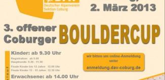 Einladung zum 3. Offenen Coburger Bouldercup