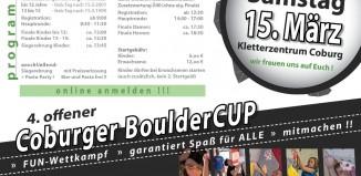 4. Offener Coburger Bouldercup am 15.03.2014