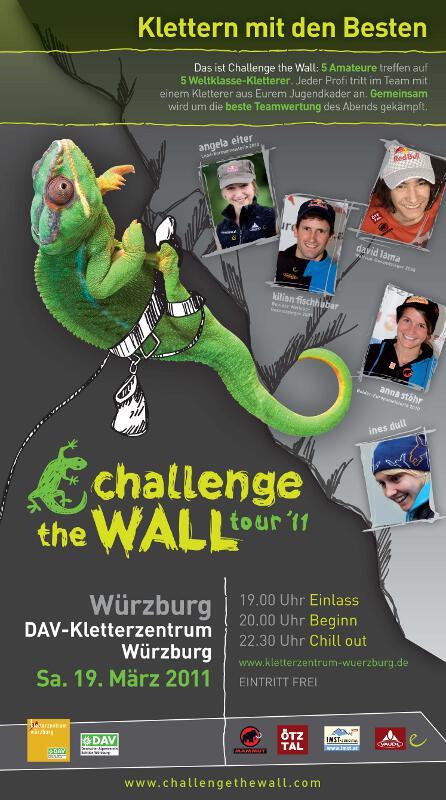 Challenge The Wall 2011: Im Team klettern mit den Besten der Welt