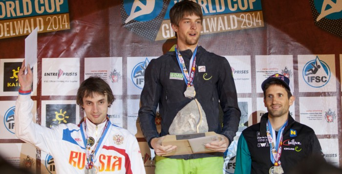 Boulderweltcup 2014 in Grindelwald: Jan Hojer holt den zweiten Sieg im dritten Wettkampf