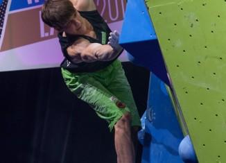 Jan Hojer wird Sieger in der Gesamtwertung zum Boulderweltcup 2014