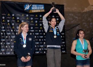 IFSC Climbing World Cup Toronto 2014: Noguchi and Glairon Mondet top podium