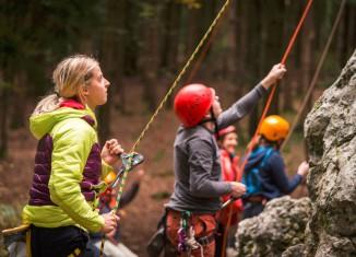 """Berghaus Athletin Angelika Rainer zu Besuch beim """"Ich will da rauf!"""" e.V."""