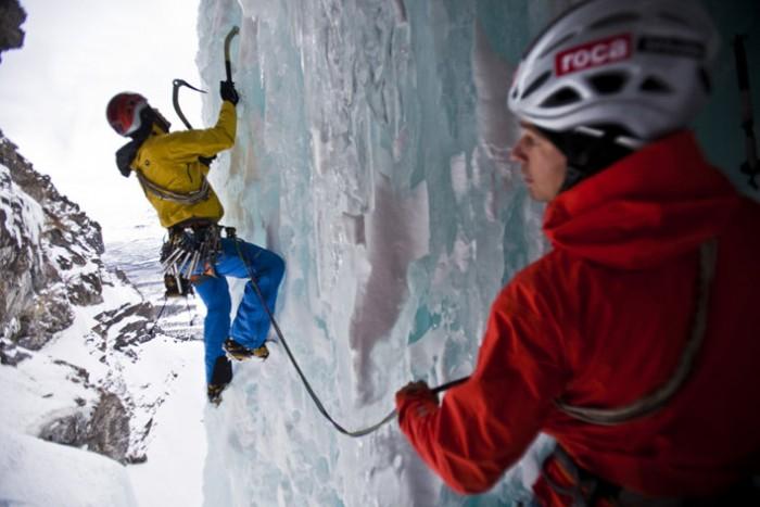 Albert Leichtfried und Benedikt Purner klettern im Land der unbegrenzten Eisklettermöglichkeiten