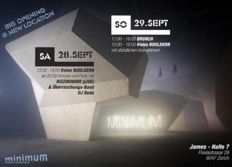 """Neueröffnung der Boulderhalle """"Minimum"""" in Zürich"""