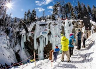 Open Swiss Ice Climbing Cup 2014 in Pontresina: Heisse Züge in der Eisschlucht