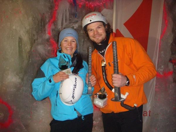 Markus Pucher wird Österreichischer Meister im Eisklettern