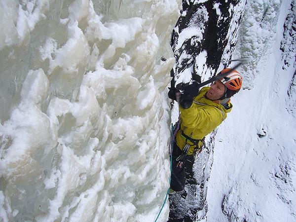 Robert Jasper gelingen Eis-Bigwalls in Norwegen