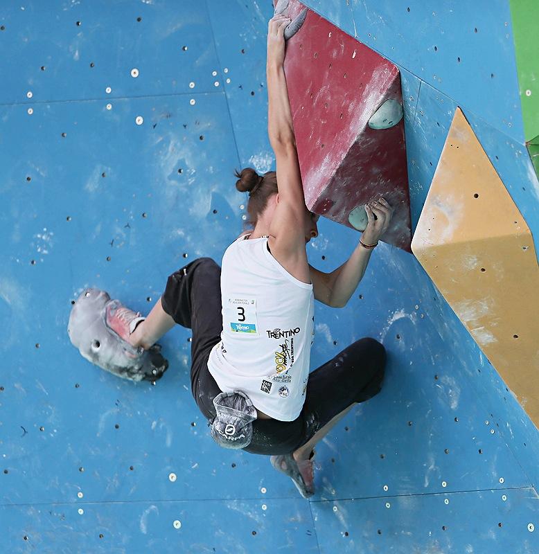 Alex Puccio wins the Rock Master 2012 Boulder Female Competition