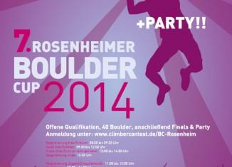 7. Rosenheimer Bouldercup 2014 in der Boulderhalle Rosenheim