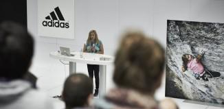 Sasha DiGiulian besucht das adidas Headquarter in Herzogenaurach