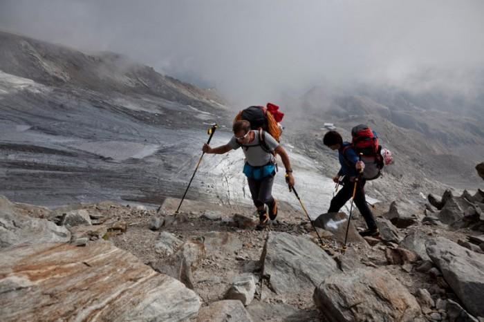 Hervé und Marco Barmasse eröffnen eine neue Route an der Südostseite des Monte Rosa