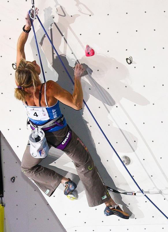 Kletterweltcup 2010: Schubert und Eiter klettern beim Weltcup in Puurs jeweils aufs Podest
