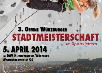 3. Offene Würzburger Stadtmeisterschaft im DAV Kletterzentrum Würzburg