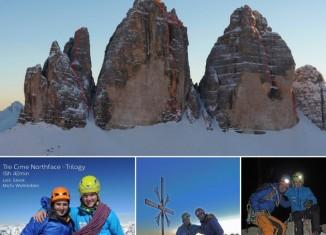 Michi Wohlleben und Ueli Steck klettern Wintertrilogie an den Drei Zinnen nonstop
