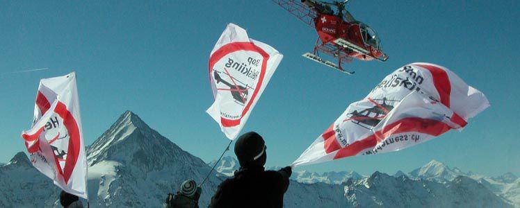 Stop Heliskiing (c) mountain wilderness Schweiz