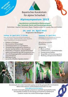 Alpinsymposium 2015
