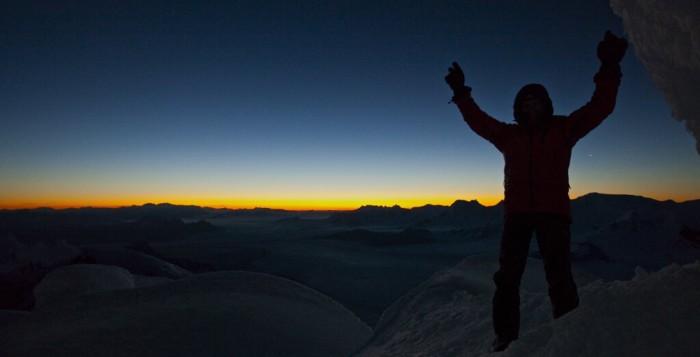 Markus Pucher free solo auf den Cerro Torre (c) Berghaus