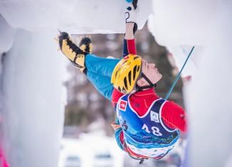 Maxim Tomilov bei der Eiskletter-WM 2015 in Rabenstein (c) Harald Wisthaler