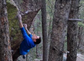 "Carlo Traversi on the first ascent of ""The Altruist"" (V13) (c) Born Denali"