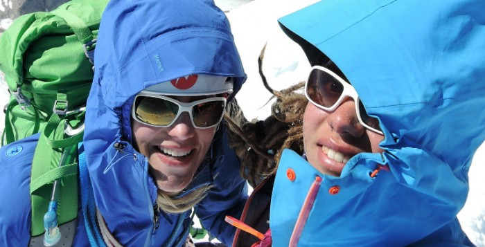 Christina Huber und Caroline North auf dem Gipfel des Cerro Torre (c) Caroline North
