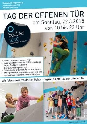 Tag der offenen Tür in der Boulderwelt Regensburg