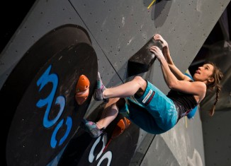 Juliane Wurm bei der Europameisterschaft in Innsbruck (c) Deutscher Alpenverein / Vertical-Axis