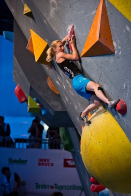 Monika Retschy bei der Europameisterschaft in Innsbruck (c) Deutscher Alpenverein / Vertical-Axis