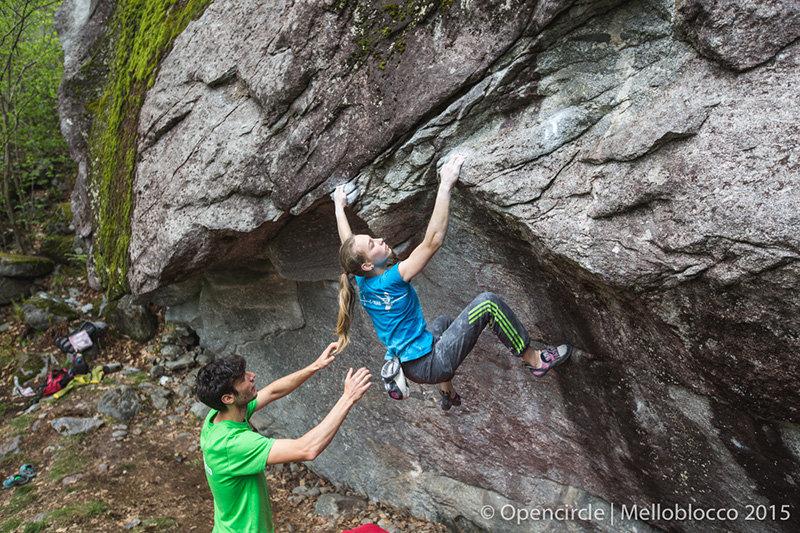 Janja Garnbret climbing