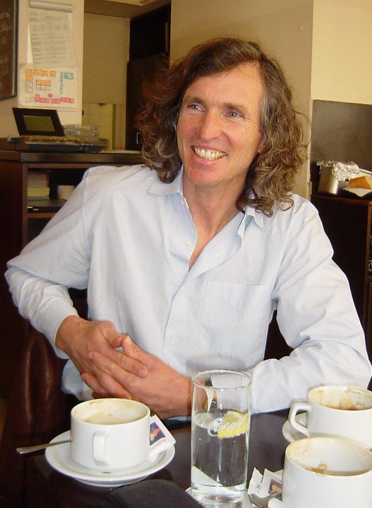 Stefan Glowacz im Gespräch 2005 (c) Martin Joisten