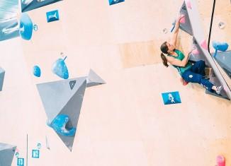 Anna Stöhr beim Boulderweltcup 2015 in Toronto (c) ÖWK/Heiko Wilhelm