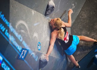 Monika Retschy bei der Europameisterschaft in Innsbruck (c) DAV / Vertical-Axis