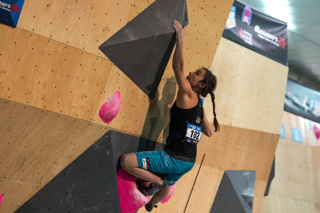 Juliane Wurm beim Boulderweltcup 2015 in Toronto (c) IFSC/Eddie Fowke