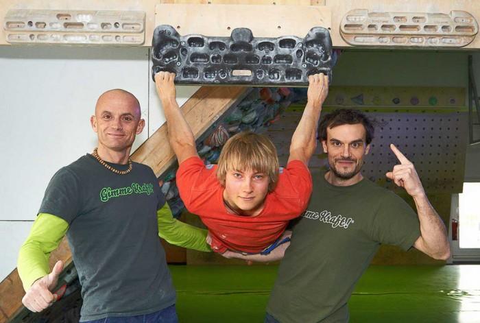 Dicki Korb, Alex Megos und Patrick Matros (c) Hannes Huch