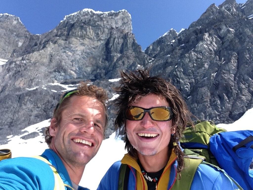 Roger Schäli und Simon Gietl am Devils Paw Northtower
