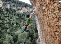 "Iker Pou on the first ascent of ""Big Men"" (9a+) (c) Pou Brothers"