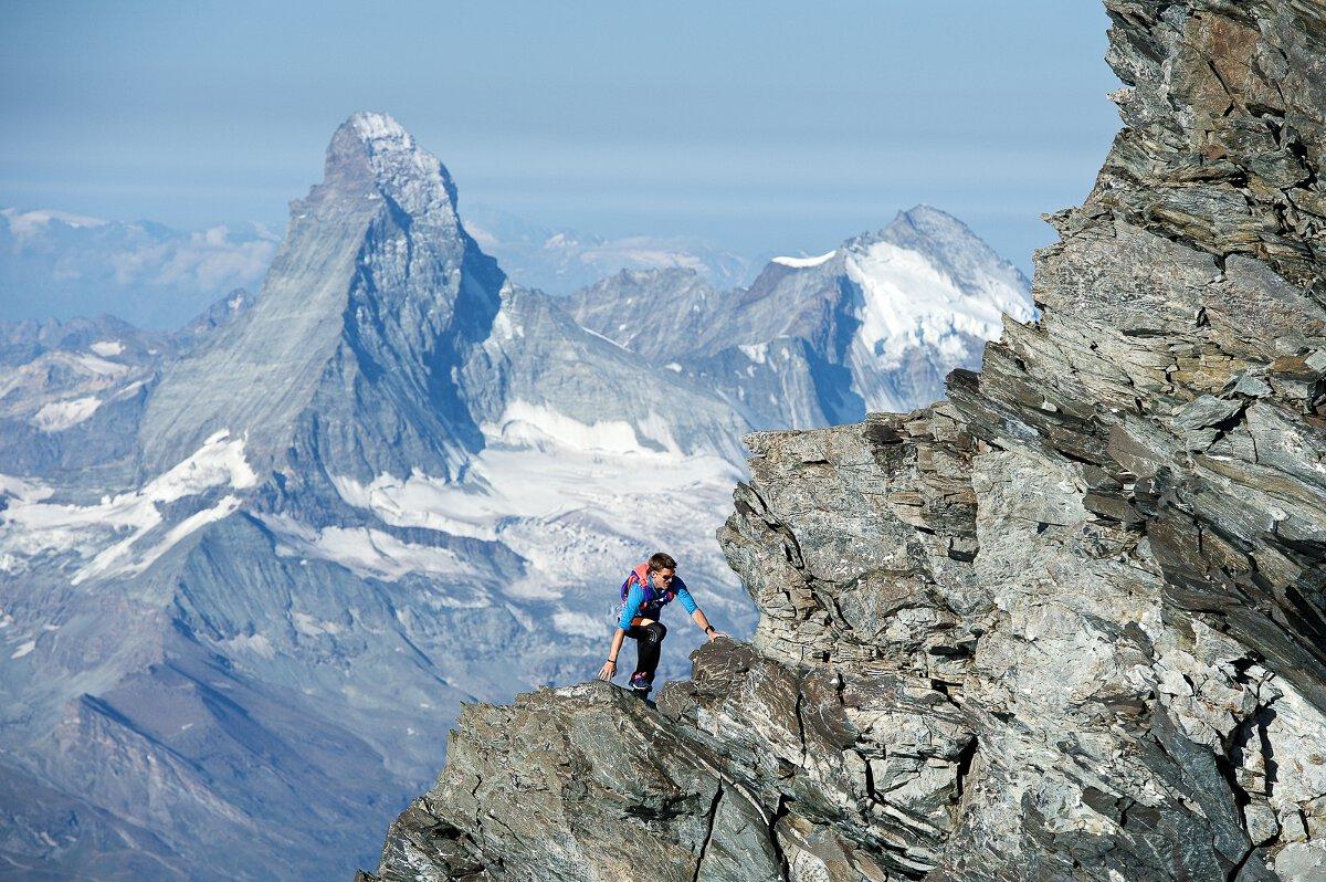 Kletterausrüstung Zermatt : Andreas steindl überquert fünf viertausender in unter 8 stunden